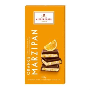Orange Bittersweet Dark Chocolate Marzipan NIEDEREGGER LUBECK Bar 110g
